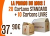 PROMO 20 cartons standards + 10 cartons livre