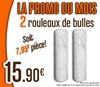 2 rouleaux bulles 1X10m
